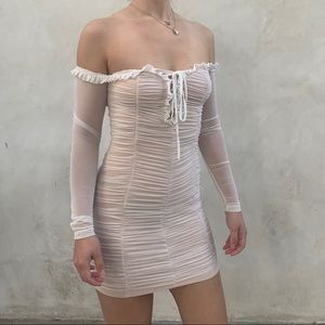 Mini White Dress-Small